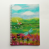 Dragonfly Cottage Notebook with Printed Cover