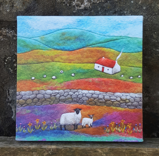Lambing Time Canvas Print