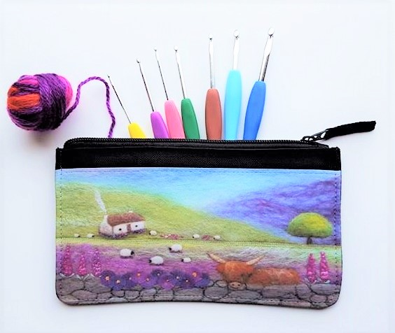 Multipurpose Zippered Pouch Bag