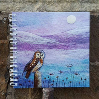 Owl Notebook plain and ruled