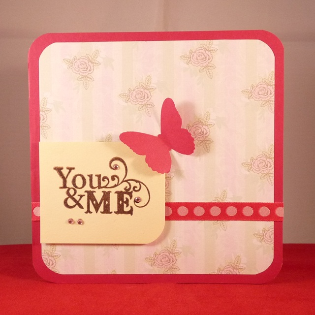 Handmade Card 'You & Me'