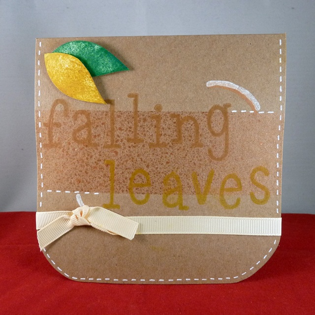 Handmade Card 'Falling Leaves'