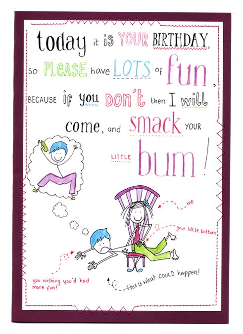 Birthday Card: Smack Bum!