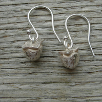 Handmade Solid Silver Strawberry Drop Earrings