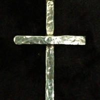Silver Cross, Sterling Silver, Hammered texture finish, Cross, Cross Pendant