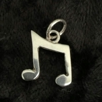 Musical Note Pendant, Musician, Musicians gift, Orchestral, Singer gift, Silver