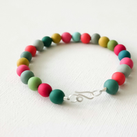 Multi Colour Polymer Clay Bracelet