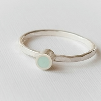 Pale Blue Stacking Ring, Minimalist, Everyday Jewellery