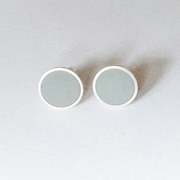 Colour Dot Studs Grey, Minimalist, Everyday Earrings