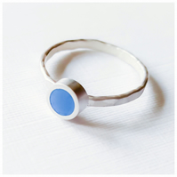 Cobalt Blue Stacking Ring, Minimalist, Everyday Jewellery
