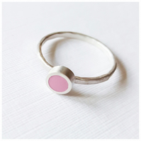 Raspberry Pink Stacking Ring, Minimalist, Everyday Jewellery