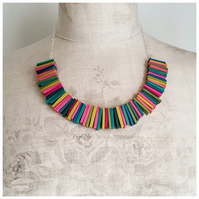 Deco Statement Necklace in Summer Multicolours, Contemporary Jewellery
