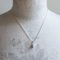 Grey Drop Pendant Necklace, Minimalist, Everyday Jewellery