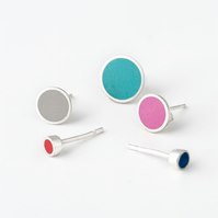 Colour Dot Studs, Minimalist, Everyday Earrings, Various colours and sizes
