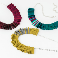 Colourful Deco Statement Necklace, Contemporary Jewellery