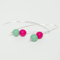Bright Colourful Contemporary Handmade Earrings