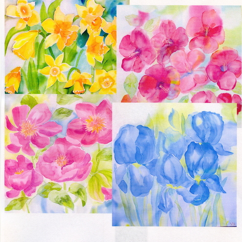 Selection of 4 Flower Cards