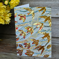 "Set of 5 ""Spirit of the Leaves"" mosaic art greeting cards"