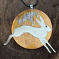 Hare and the Gold Moon Pendant