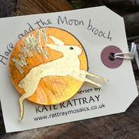Hare and the Gold Moon Brooch