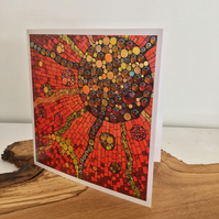 Set of 5 Mosaic cards