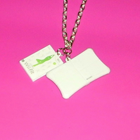 wii fit mini game necklace