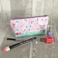 Pale Pink Small Unicorn Make up bag
