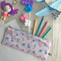 Children's Mermaid Print Fabric Pencil case