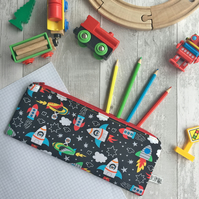 Children's Space Rocket Pencil Case