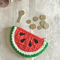 Slice of Red watermelon Coin Purse
