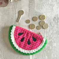 Slice of Pink watermelon Coin Purse