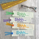 Personalised Handmade 'Shhh... I'm reading' Fabric Bookmark