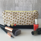 Bumble Bee Fabric Make up Bag