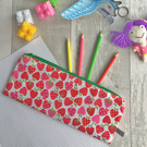 Children's Apple Print Fabric Pencil case