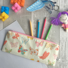 Children's Butterfly Print Fabric Pencil case