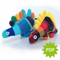 Sock Stegosaurus, PDF instructions