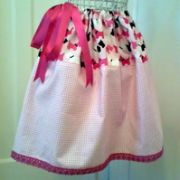Scottie Dogs in Pink A Line Skirt