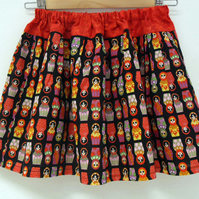 Russian Doll Print Skater Skirt Age 7 - 8