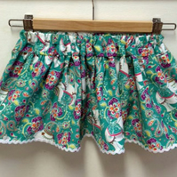 Bright Elephants in Needlecord Adjustable Waist Skirt Age 18months