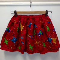 'Pinata Party' Adjustable Waist Child Skater Skirt Age Approx 4 - 6