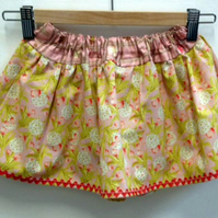 Pink Floral Adjustable Waist Skirt Age 18months