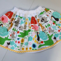 Farmyard Fun Adjustable Waist Skirt Age 2 years plus