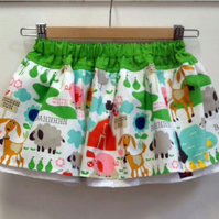 Farmyard Fun Adjustable Waist Skirt Age 1 years plus