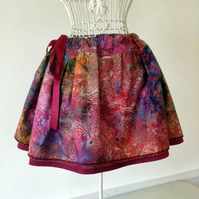 Festival Tie-Dye Adjustable Waist Skirt to fit size 6 - 14