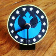 Star Wars New Republic Symbol Clock for work desk or table top