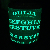 Ouija Board Vintage orange style design Glow in the Dark mug