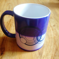 Colour Changing Your Name in Gallifreyan Personalised Blue Dr Who Mugs