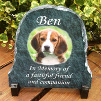 Personnalised Memorial Slate for your Beloved Pet