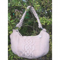 Knitting pattern - Cabled Bag