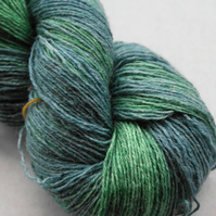 "Hand dyed sock yarn ""Shades of Green"""